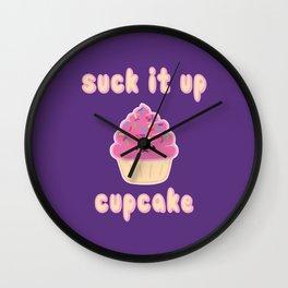 Suck it up Cupcake (Strawberry) Wall Clock