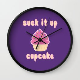 Suck it up Cupcake (Strawberry) Wall Clock