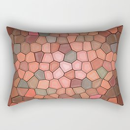 Terracotta Mosaic Rectangular Pillow