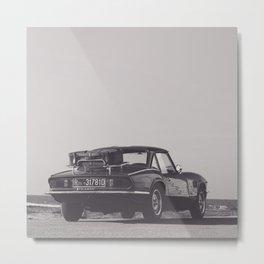 Supercar details, british triumph spitfire, black & white, high quality fine art print, classic car Metal Print