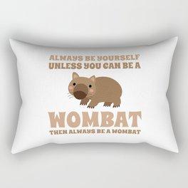 Wombat Funny Gift Idea Rectangular Pillow