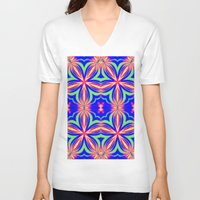 psychedelic art V-neck T-shirts featuring Psychedelic  by 2sweet4words Designs