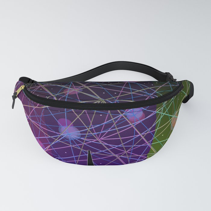 A Futurist's Starry Night Fanny Pack