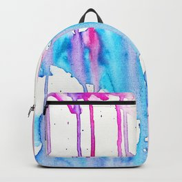 A flower blooms amid a storm Backpack