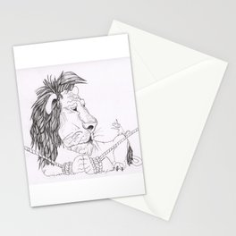 Lion and mouse Stationery Cards