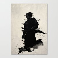 samurai champloo Canvas Prints featuring Samurai by Nicklas Gustafsson