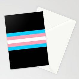 Trans Pride Stripes Stationery Cards