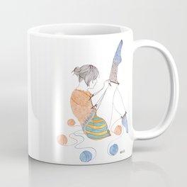 Sock Knitster Girl Mug Coffee Mug