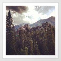 Mountain Fortress Art Print