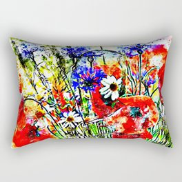 Garden Chock Full of Flowers Rectangular Pillow