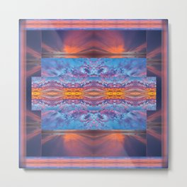 Fire in the Sky Quilt Metal Print