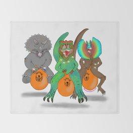 Space Hopper Dinosaurs Throw Blanket