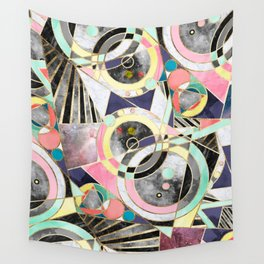 Modern geometric abstract pattern Wall Tapestry