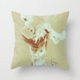 Monica Jane Tan Throw Pillow
