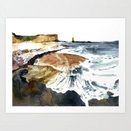 coast&waves Art Print