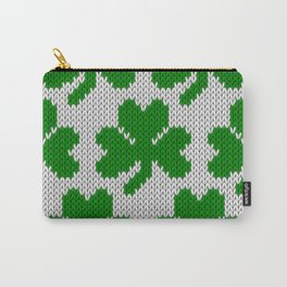 Shamrock pattern - white, green Carry-All Pouch