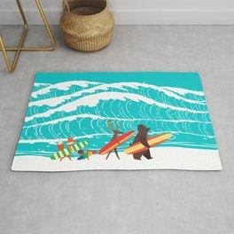 Summer Holiday Surfing Rug