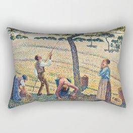 Camille Pissarro - Apple Harvest Rectangular Pillow