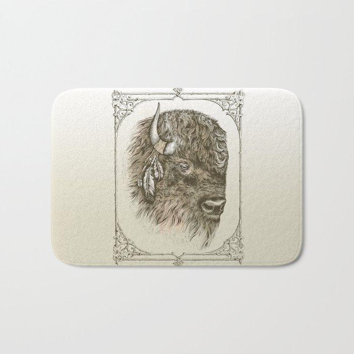 Portrait of a Buffalo Bath Mat