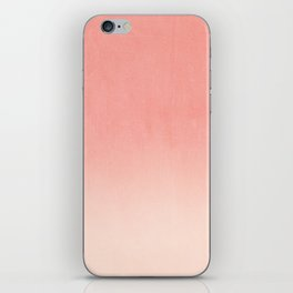 Coral ombre trendy girly trend college life dorm decor office minimalism iPhone Skin