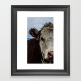 Half Cow Framed Art Print