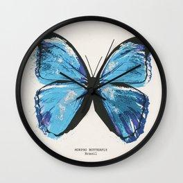 MORPHO BUTTERFLY Wall Clock