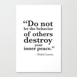 Quote 8 Canvas Print