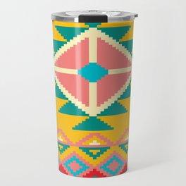 Yellow Native Aztec Travel Mug