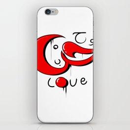 graffiti love word in arabic and english iPhone Skin