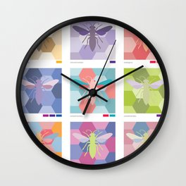 color schemes poster Wall Clock