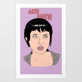 Acid Burn / Kate Libby - Hackers Art Print