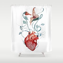 The Wall flowers Shower Curtain