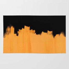 Orange impact Rug