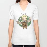 thranduil V-neck T-shirts featuring  Thranduil by YattaGiulia