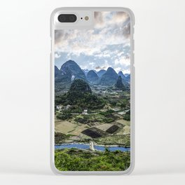 Karst Pinnacle landscape of Guilin Clear iPhone Case