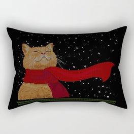 Knitted Wintercat Rectangular Pillow