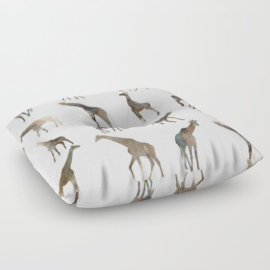 Animal Shaped Floor Pillows : Giraffes Pattern Floor Pillow by Rodrigomffonseca Society6