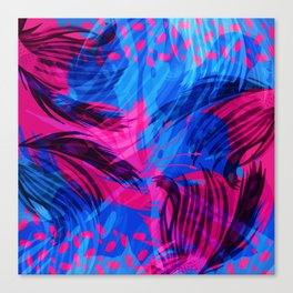 Going for an Abstract Swim Canvas Print