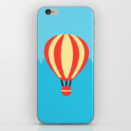 Classic Red and Yellow Hot Air Balloon iPhone Skin