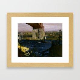 "George Wesley Bellows ""Bridge, Blackwell's Island"" Framed Art Print"