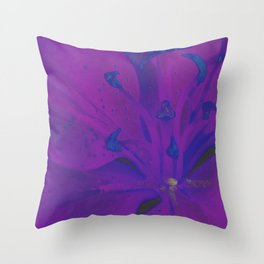 Star Gazer Lilly Up Close Solarized Colors Throw Pillow
