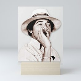 Barack Obama Smoking weed Mini Art Print