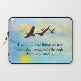 More Than Conquerors Laptop Sleeve