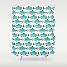 Fisheries summer pattern Shower Curtain