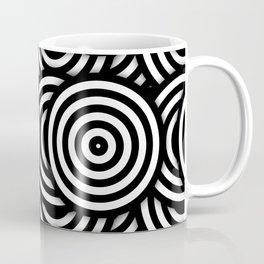 Retro Black White Circles Op Art Coffee Mug