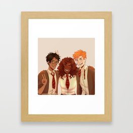 HP TRIO REDRAW Framed Art Print