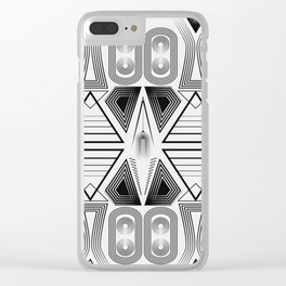 "Art Deco. ""Black and light gray"" 28 . Clear iPhone Case"