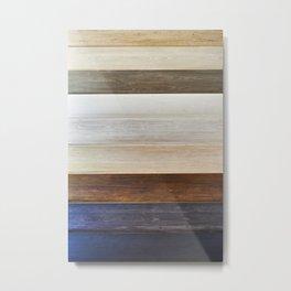Background wooden toning panels Metal Print