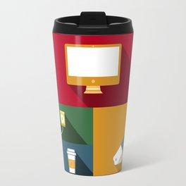 Designer flat tools Travel Mug