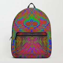 Visionary Flame II (abstract, psychedelic, trippy, psyart, meditation) Backpack